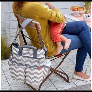 Skip hop diaper bag.